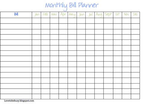 monthly organiser template 9 best images of free printable weekly bill planner bill