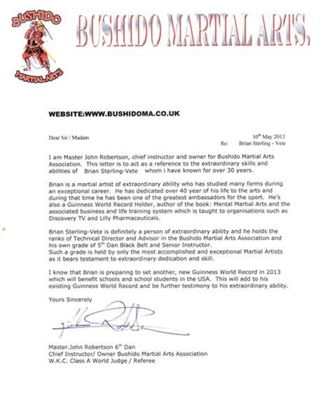 Karate Letter Martial Artist Briansterlingvete