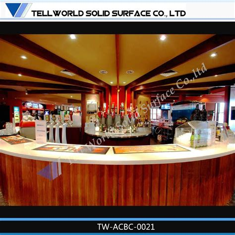 Restaurant Bar Tops For Sale by Corian Acrylic Solid Surface Modern Style Design Wine Bar