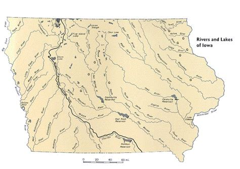 map of iowa rivers iowa river map