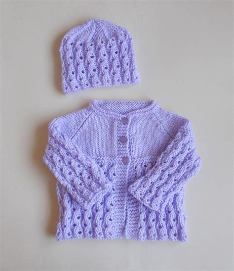 baby sets knitting patterns knitting patterns galore lilac blossom baby set