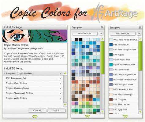 sketchbook copic tutorial copic colors for artrage by artrageteam on deviantart