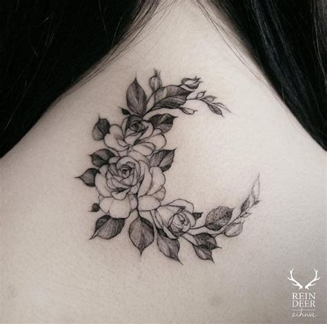 feminine rose tattoos 63 fabulous feminine design ideas crescents moon