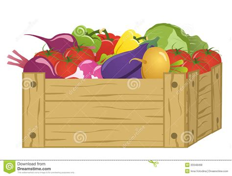 Wooden Garden Art - wooden box with vegetables royalty free stock photos image 33348468