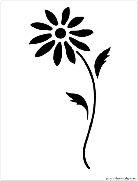 printable stencil designs flowers flowers printable stencils crafty pinterest