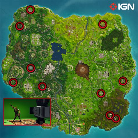 where fortnite cameras fortnite hop rock and locations and map