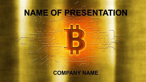 Gold Bitcoin Powerpoint Template Background For Presentation Bitcoin Powerpoint Template