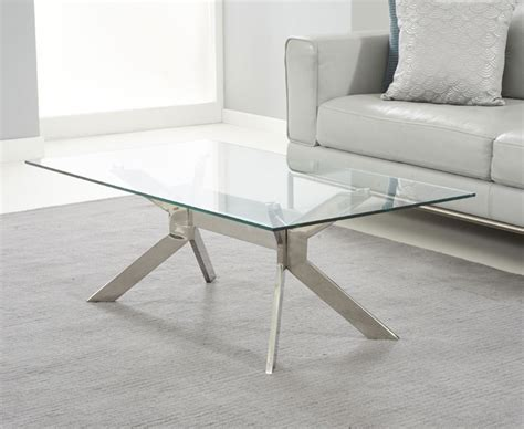 mode steel glass coffee table oak furniture solutions