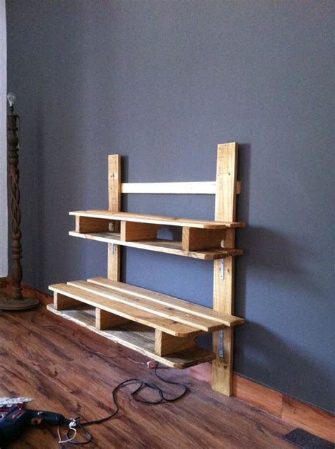 Building A Rack Mount by Recycled Pallet Tv Media Wall Mounted Rack Diy Pallet