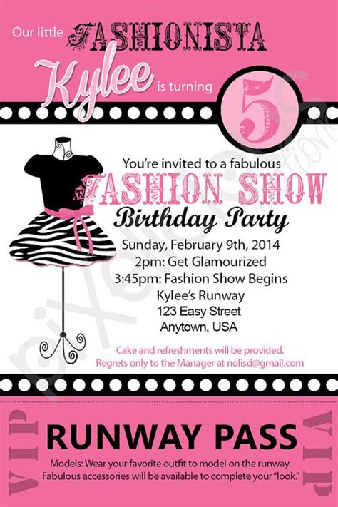 fashion invitation card template 7th birthday invitation theme ideas xyz