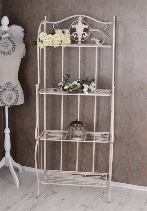 Metal Regal White Bathroom Shelf Shabby Chic Iron Shelf Shabby Chic Bathroom Shelves