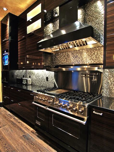 Tin Backsplashes For Kitchens by Silver Backsplash Stainless Steel Appliances Home