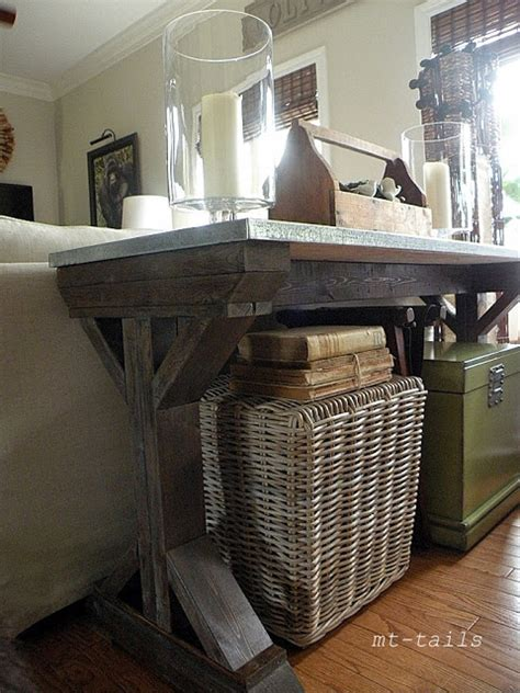 farmhouse sofa table decor 10 diy console tables that will add an eye catching touch
