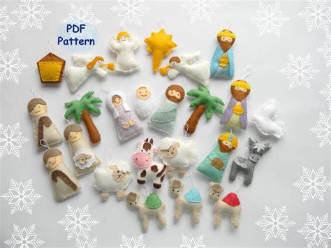 pattern felt nativity pdf pattern nativity set ornaments nativity set scene