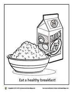 Eat A Healthy Breakfast Coloring Page sketch template