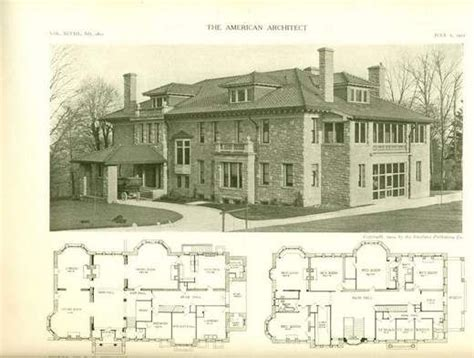 1910 house plans the july 6 1910 edition of the american architect