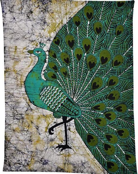 batik design of india peacock of india cotton batik painting traditional