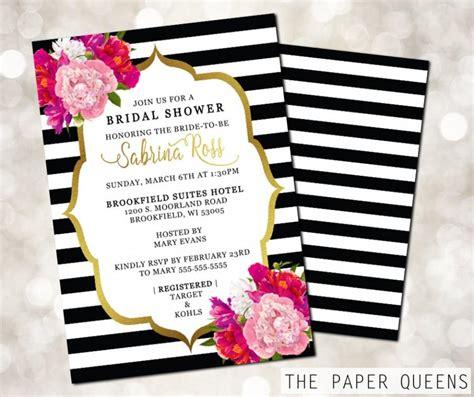 Bridal Shower Wedding Invitation Printable Invitation Weddings Bridal Invite Wedding Invite Kate Spade Invitation Template