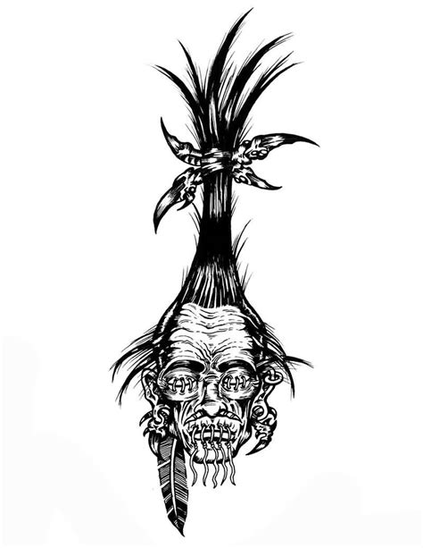 shrunken head tattoo shrunken design by hot4creature