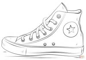 shoe coloring pages converse shoes coloring page free printable coloring pages