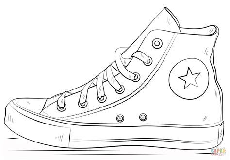 Converse Shoes Coloring Page Free Printable Coloring Pages Shoe Coloring Pages