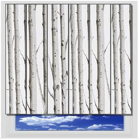 grey patterned vertical blinds woodland silver birch vertical blind printed and