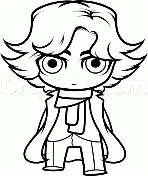 How To Draw Chibi Sherlock Holmes Step By Step Chibis Draw Chibi Anime Draw Japanese Anime Drawing Pages