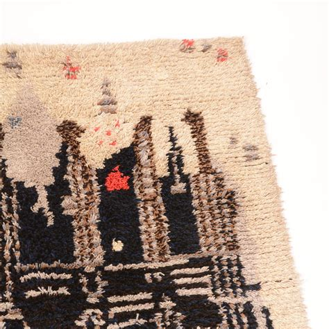 midcentury modern rug midcentury scandinavian modern rya wool rug wall hanging
