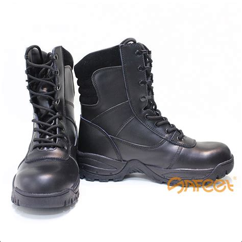 security boots black leather combat boots high ankle safety shoes for