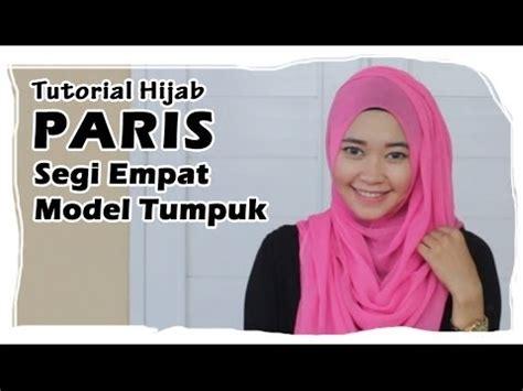 hijab tutorial paris segi empat square scarf simple
