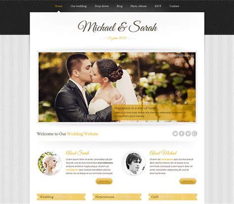 15 Best 15 Of The Best Free Premium Wedding Website Templates Images On Pinterest Website Best Free Wedding Website Templates