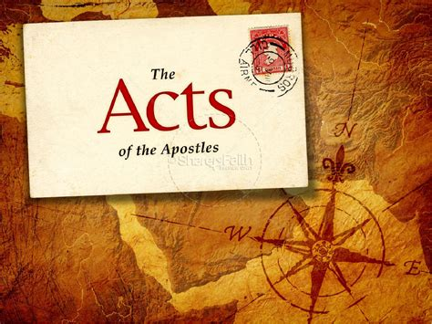 themes of every book of the bible acts of the apostles powerpoint template new testament books