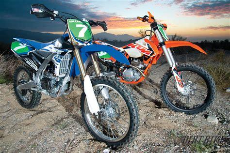 Yamaha Ktm Dirt Bike Magazine Road Shootout Ktm 250xcf Vs