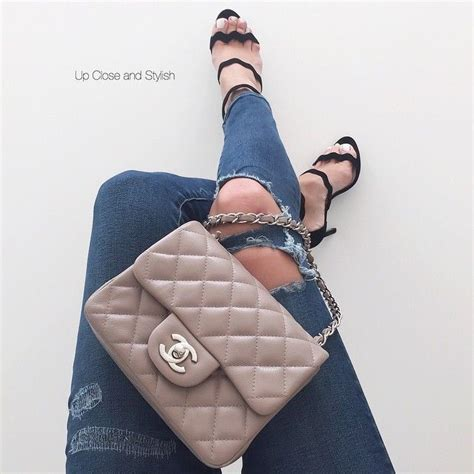 Chanel Webbing Mini Mini Square Chanel Classic Flap Food