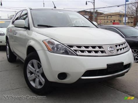 white nissan car 2007 nissan murano s awd in glacier pearl white 634227