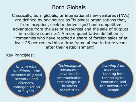 Born Global Definition | po b lecture 8 global business models students