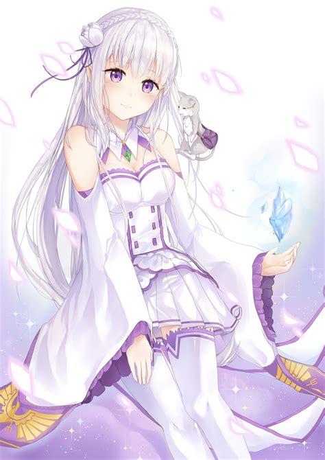 Kaos Anime Re Zero Kara Emilia emilia re zero re zero kara hajimeru isekai seikatsu oretsuu anime аниме красивые