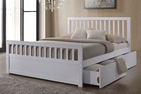 double bed frame with storage characteristics of having a white double bed home design