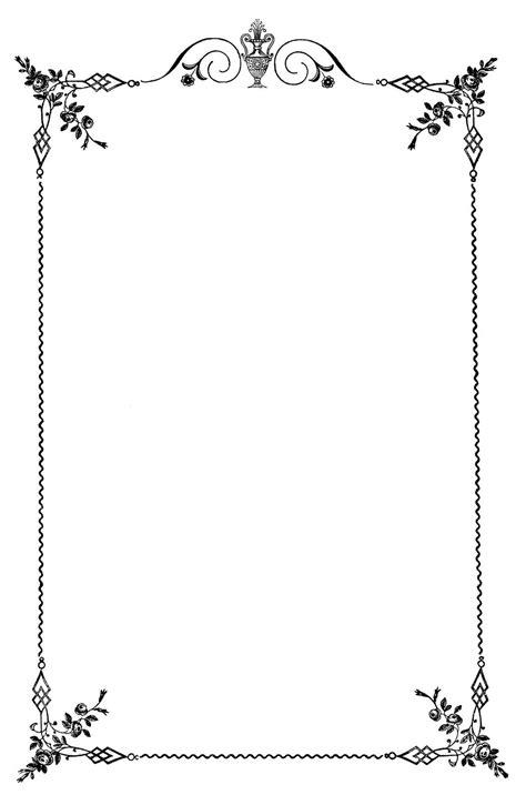 Wedding Menu Clip by Vintage Clip Frame Wedding Menus The