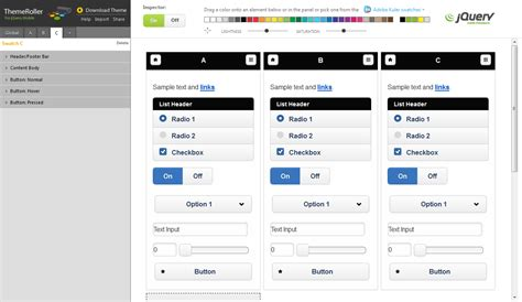 jquery mobile themeroller jquery mobileのテーマを作成する developers io