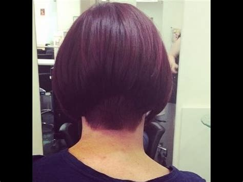 buzzed nape bob makeover hair makeover shoulder length to bob haircut with a