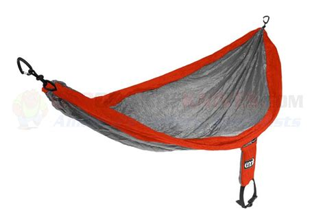 Hammock Dhaulagiri Single Nest eagles nest outfitters eno singlenest hammock orange grey osograndeknives