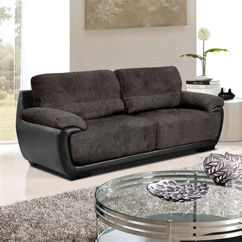 Grey And Sofa Overton Mole Grey Sofas In Chenille Fabric With Black