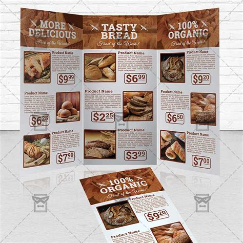 free bakery flyer templates bakery food premium tri fold brochure template