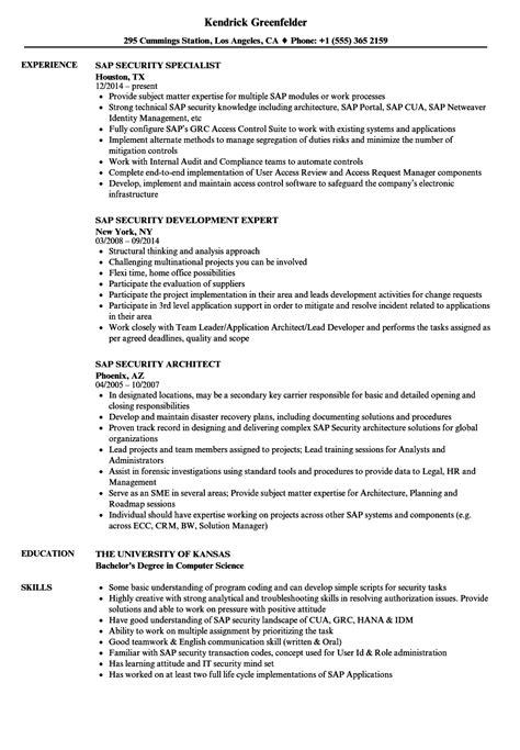 sap security resume format sap security resume shalomhouse us