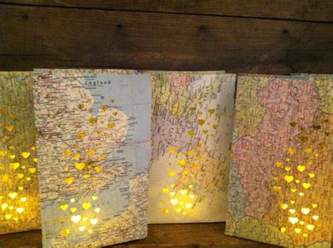 map luminary bags travel theme decor   order