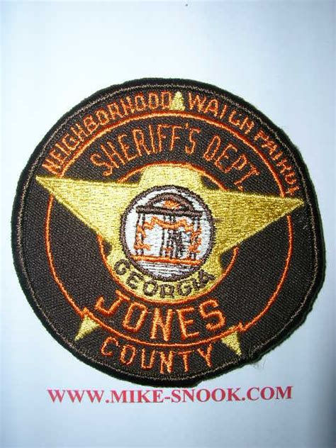 Jones County Sheriff S Office by Mike Snook S Patch Collection State Of