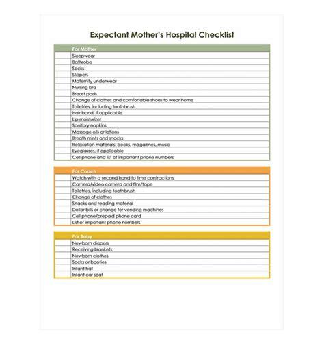 printable pregnancy to do list pregnancy hospital bag checklist pregnancy hospital