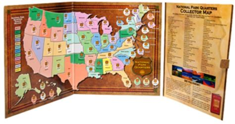 national park quarters collector map 2010 to 2021 includes a bonus san francisco s minted coin books national park quarters collector map hobbymaster