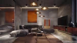 Concrete room interior design ideas